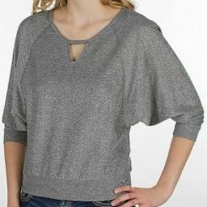 Guess Silver Daphne Knit Top